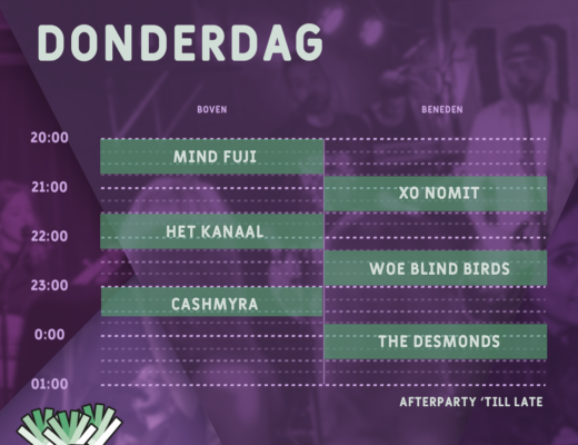 Timetable • Donderdag